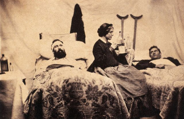 Nurse Caring for Wounded Soldiers